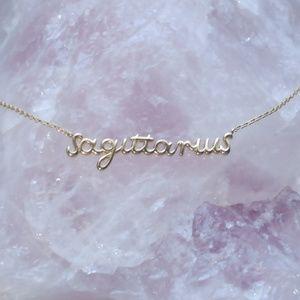 NWT Sagittarius Gold Necklace